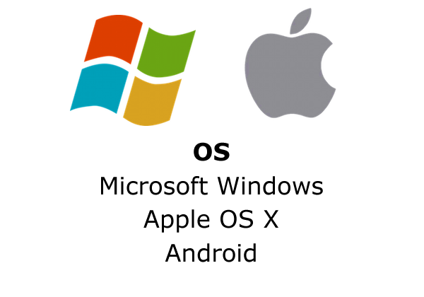 OS: Microsoft Windows, Apple OS X, Android